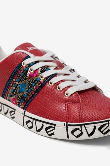 Buty sportowe z motywem indyjskim i napisem LOVE | Desigual