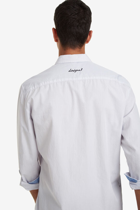 Floral print pinstripe shirt Barclay   Desigual