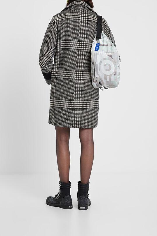 Loose checked coat | Desigual
