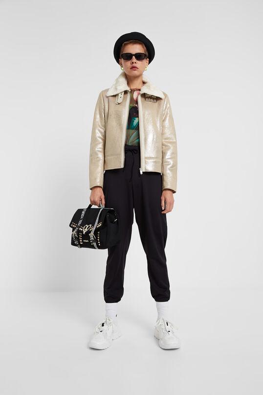 Glitter effect jacket | Desigual