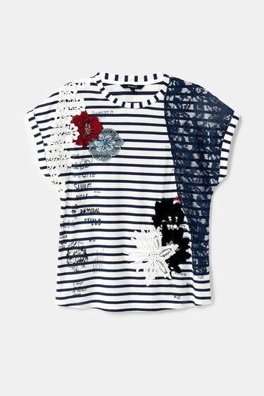 Short floral sailor T-shirt | Desigual