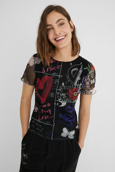 T-shirt short sleeve tulle | Desigual