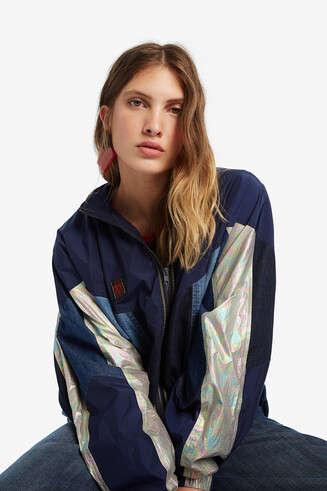 Oversize windcheater jacket
