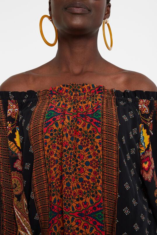 Boat neck boho blouse | Desigual