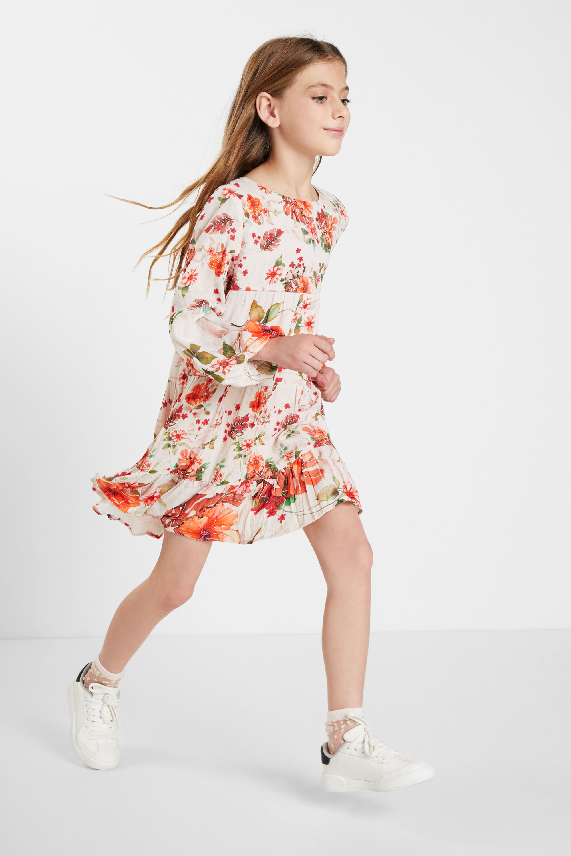 Short dress flowers - WHITE - 7/8