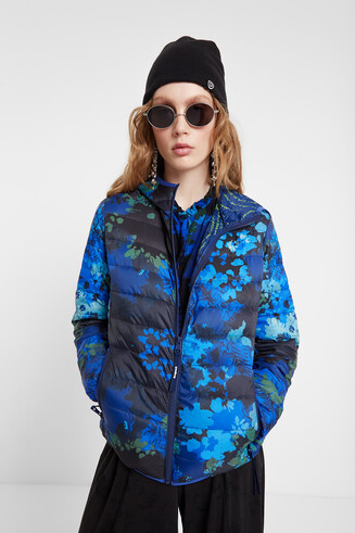 Floral print eco padded jacket