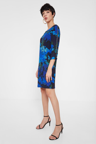 Straight dress floral camouflage
