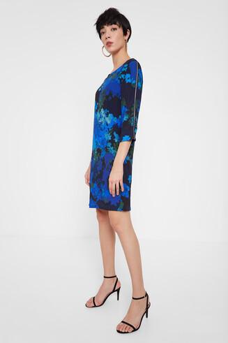 Gerade geschnittenes Kleid mit blumiger Camouflage