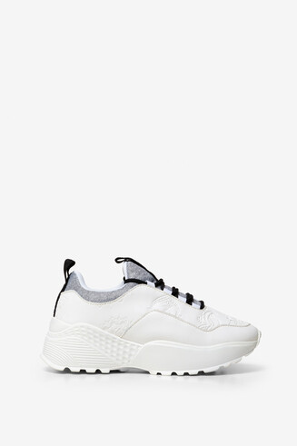 Sneakers bianche incisione Chunky