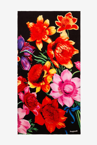 Rechthoekige sjaal met bloemen Designed by M. Christian Lacroix | Desigual