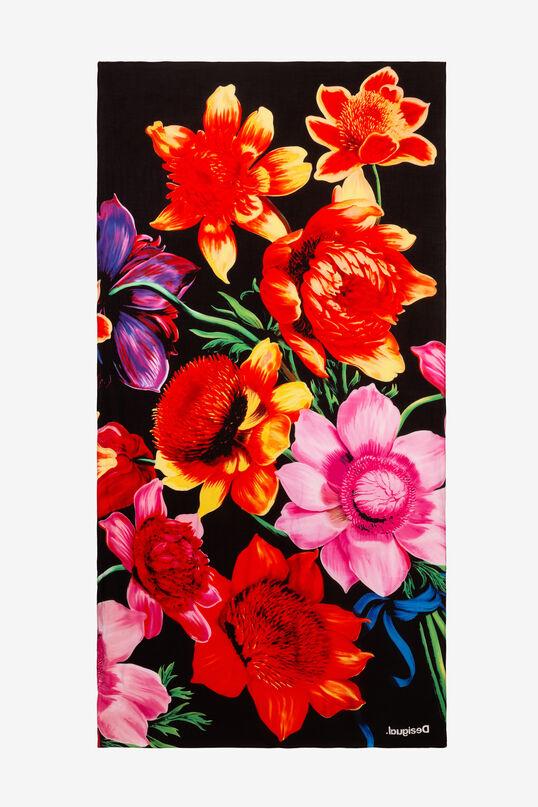 Rectangular floral foulard Designed by M. Christian Lacroix | Desigual