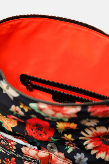 Square nylon floral bag | Desigual