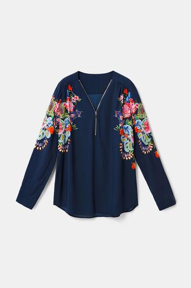 Bluzka z suwakiem w kwiaty | Desigual