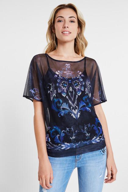 Oversize mesh T-shirt