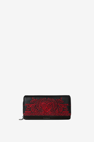 Rectangular coin purse heart