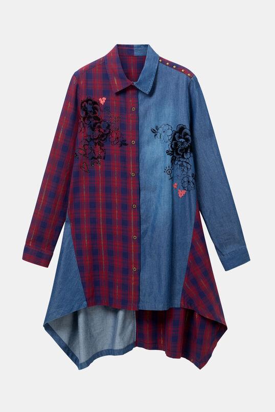 Camisa tartà denim   Desigual