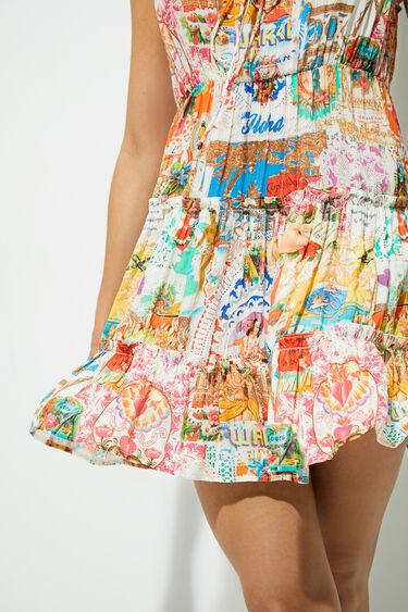 Short Hawaiian Lurex dress | Desigual