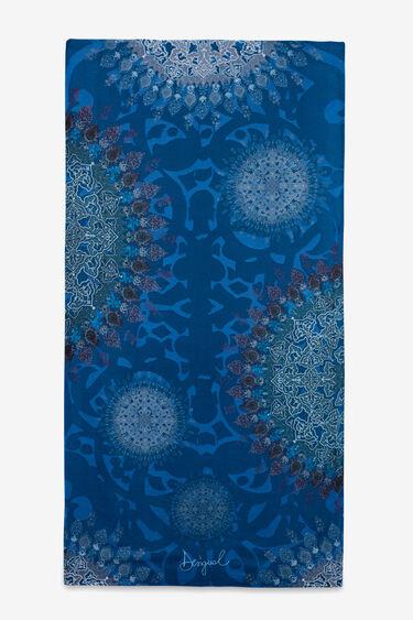 オリエンタルな曼荼羅柄の長方形スカーフ | Desigual