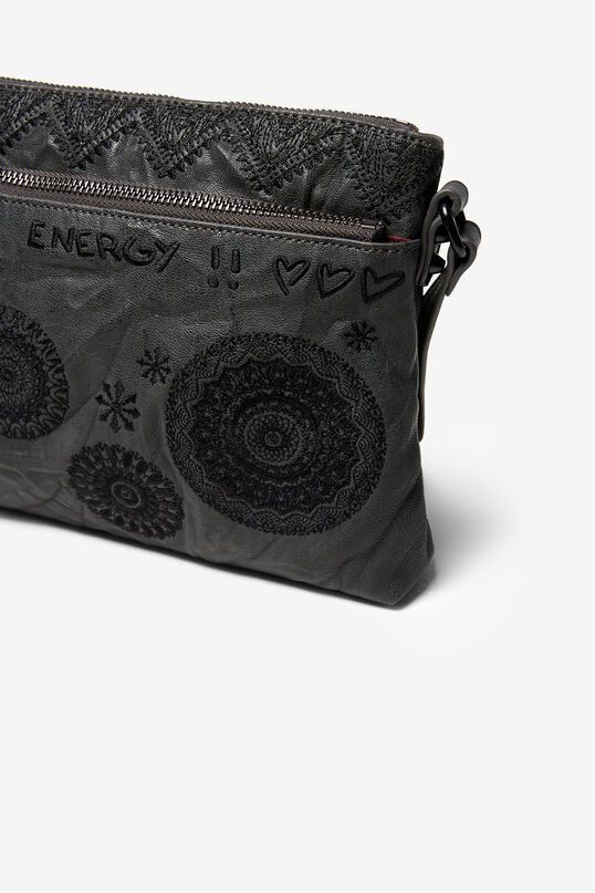 Leather-effect mandalas bag | Desigual