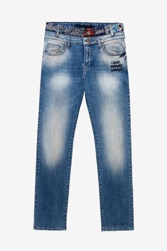 Jeans mit Doppelbund