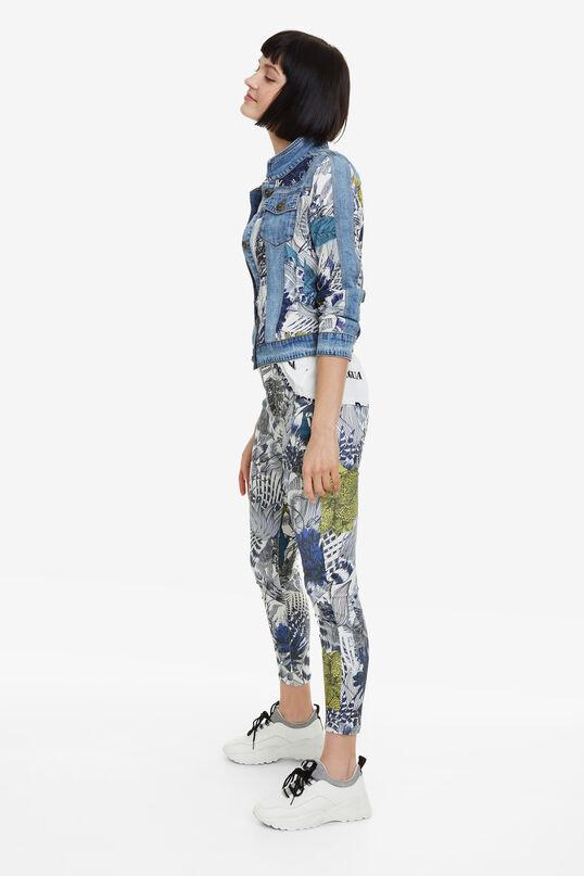 Print Ankle-grazer Trousers Cosmic   Desigual