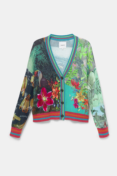 Tropical print cardigan jumper | Desigual