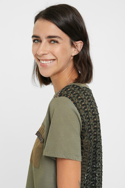 Crochet back T-shirt