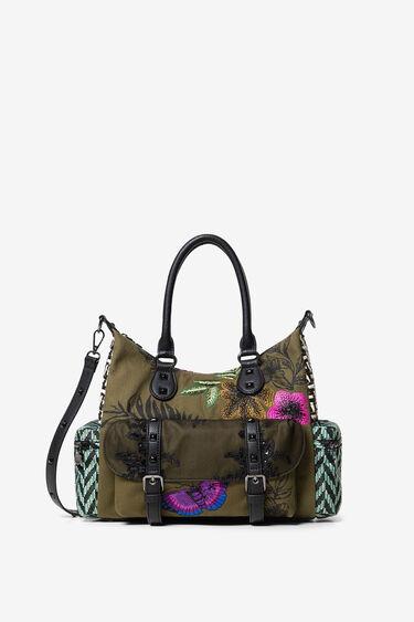 Bag patch fabrics and textures   Desigual