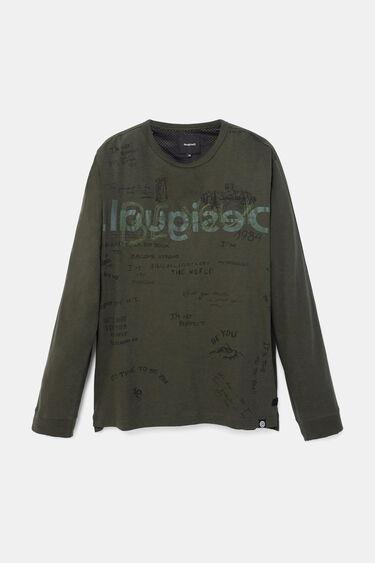 Maglietta manica lunga scritte | Desigual