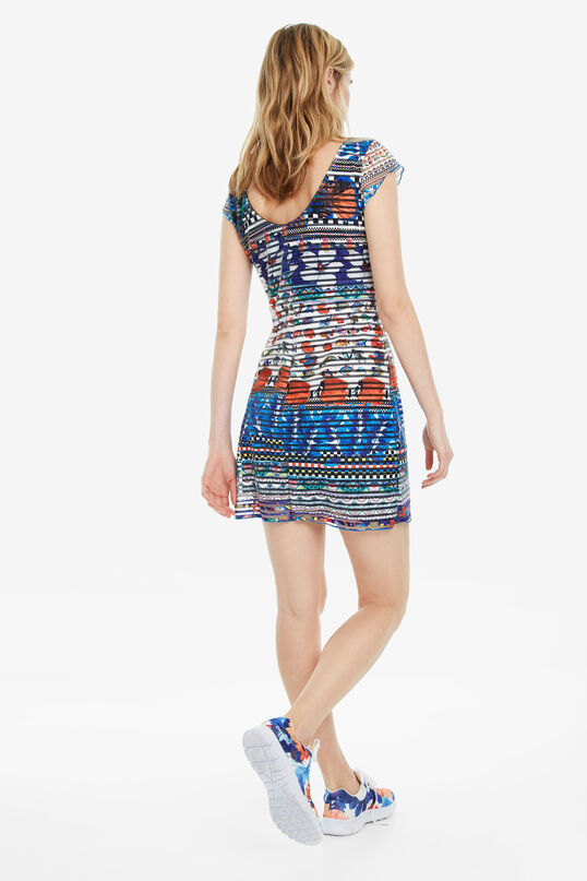 Slim Tropical Print Dress Fiona | Desigual