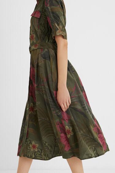 Long tropical shirt dress | Desigual