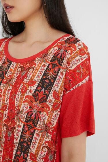 T-shirt met boho-sierranden | Desigual