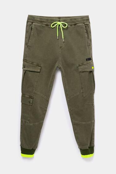 Cargo trousers drawstring fluorine   Desigual