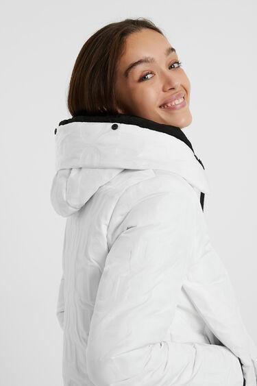 Short hooded padded jacket   Desigual