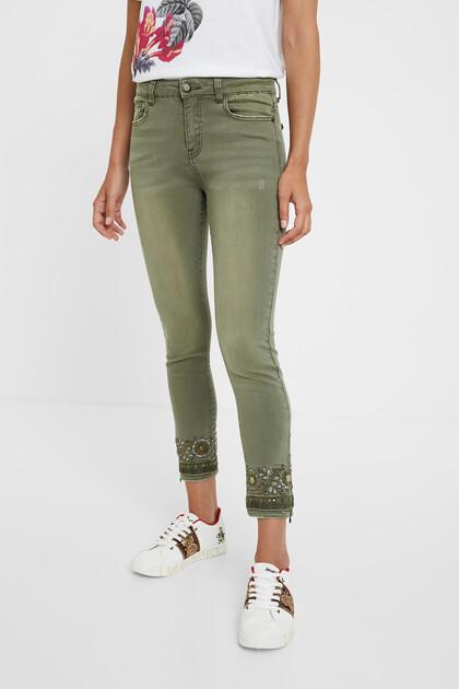 Exotische Skinny-Jeans