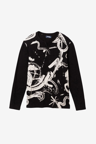 Arty zwart-wit T-shirt | Desigual