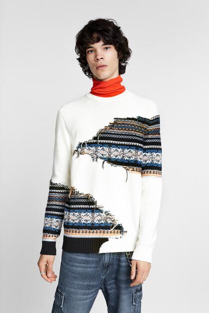 Jersei tricot fals estrip