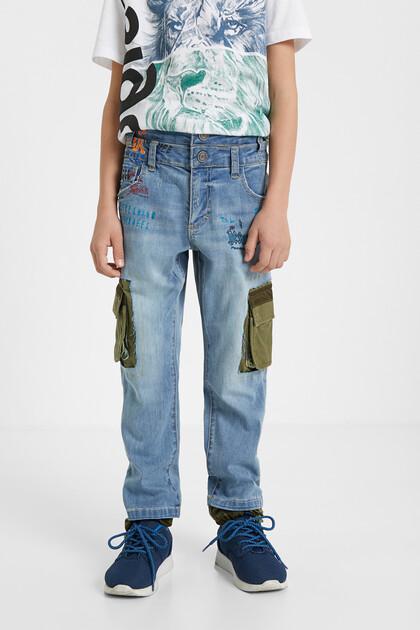 Hybrid jeans patch cargo