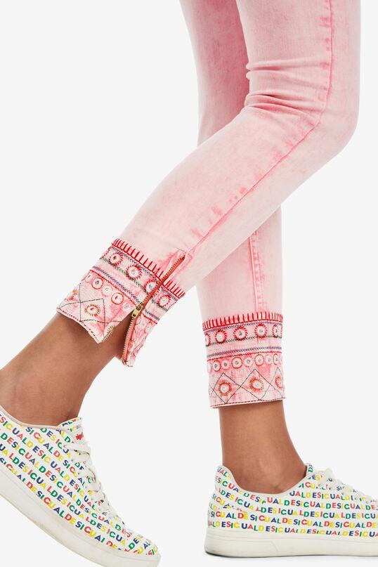 Pantalon cropped rose Miami | Desigual