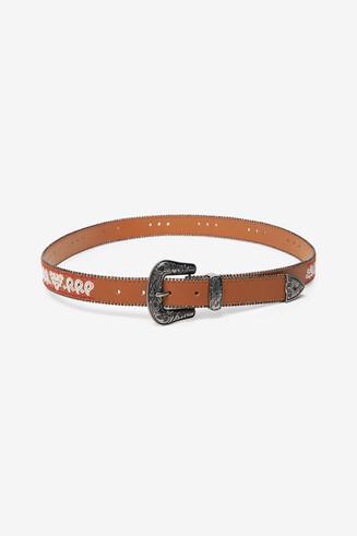 Cowboy faux leather belt