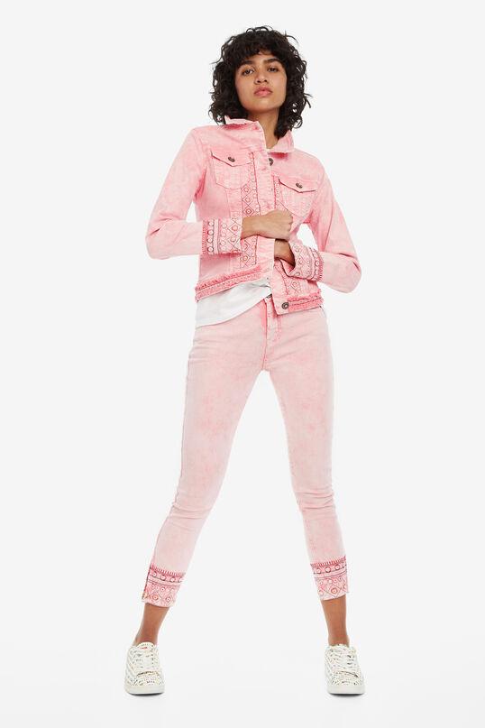 Roze jack met borduursel Boho | Desigual