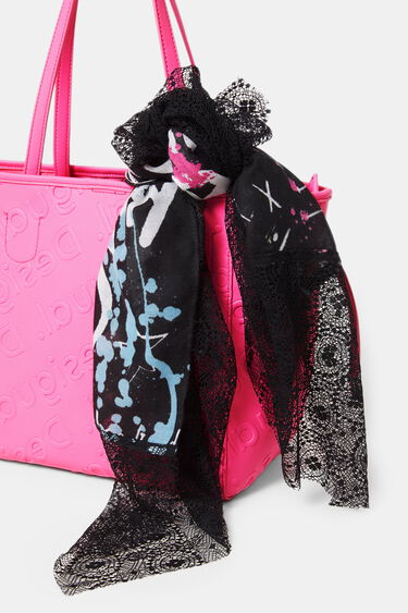 Rectangular bimaterial foulard | Desigual