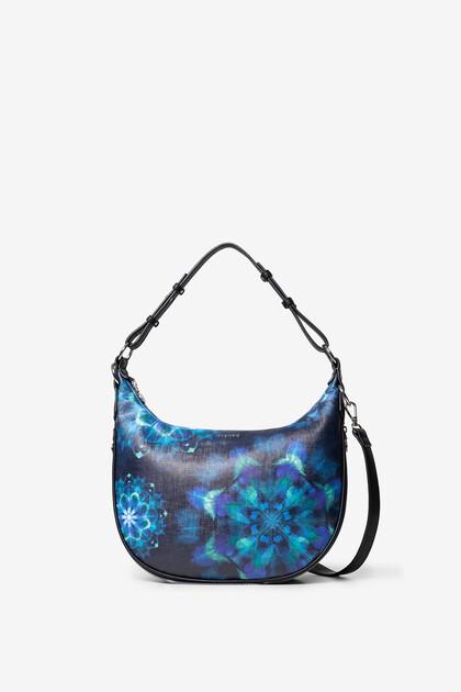 Halbmondförmige Handtasche Mandalas