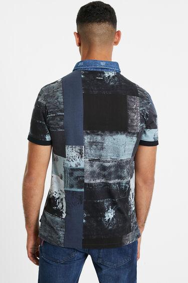 Cotton denim collar polo shirt | Desigual