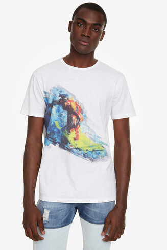 White Surfer T-shirt Benedikt