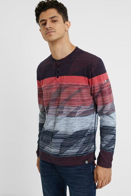 Jacquard-Shirt mit Knöpfen