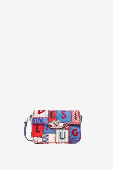 Bolso patch de tejidos, bordados y letras | Desigual