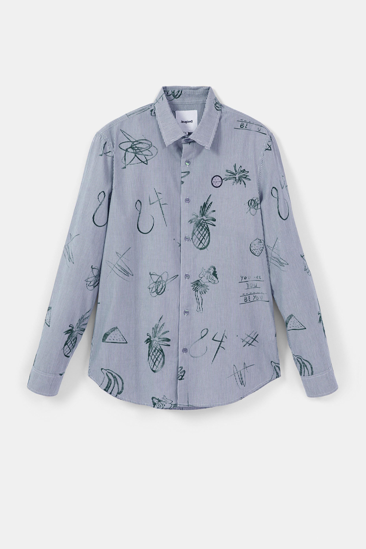 Camisa casual rayas y bolimanía |