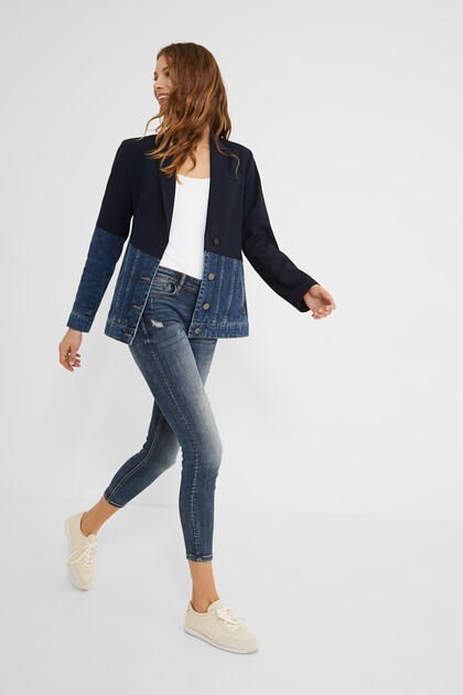 Hybrid blazer denim