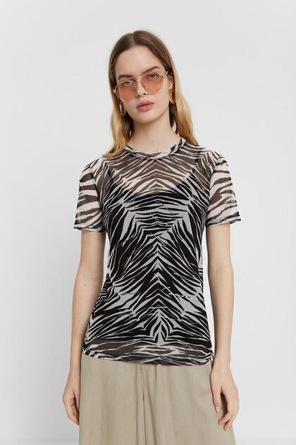 Sheer zebra T-shirt